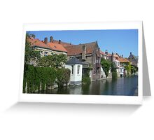 Bruges canal Greeting Card