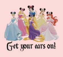 Disney Princesses with Minnie Mouse ears by sweetsisters