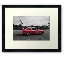 Both Girls Racing Framed Print