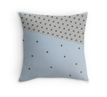MODERN blue and grey, abstract decor Throw Pillow