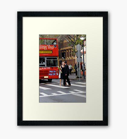 Hop On, Hop Off Framed Print