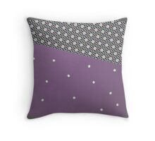 MODERN purple and grey, abstract decor Throw Pillow
