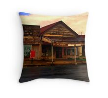 The Old Corner Store Throw Pillow