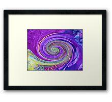 Purple Spirals Framed Print