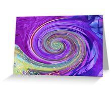 Purple Spirals Greeting Card