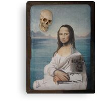 Mona in playa Canvas Print