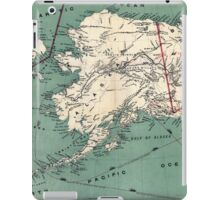 ALASKA GOLD RUSH SURVIVAL MAP/GUIDE  1897 iPad Case/Skin
