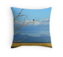 Pacific Heron enjoying the Warrumbungles from Wilber Throw Pillow