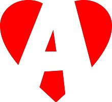 I love A - Heart A - Heart with letter A by theshirtshops