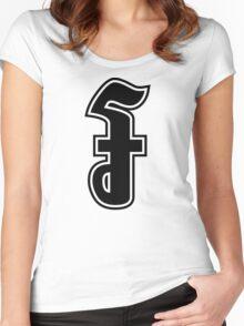 Riel Khmer Money Sign Women's Fitted Scoop T-Shirt