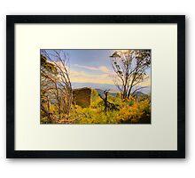 Shelter -  The  Blue Mountains HDR Series - Shipley Plateau  Sydney Australia Framed Print