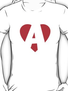 I love A - Heart A - Heart with letter A T-Shirt