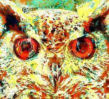 Watercolor Owl by Tr0y