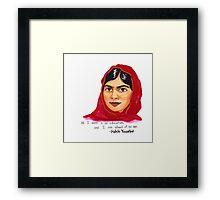 Malala Framed Print