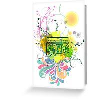 Retro Abstract Radio Greeting Card