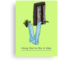 Hung Out to Dry in ITALY * Canvas Print