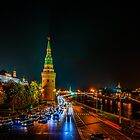 Moscow Kremlin At Night by luckypixel