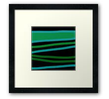 GREEN VALLEY abstract art gifts Framed Print
