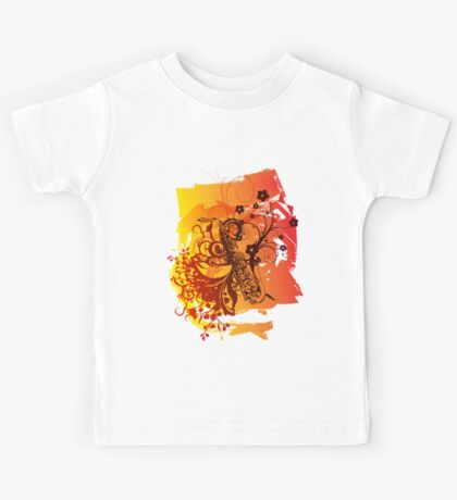 Retro Abstract Sax Kids Tee