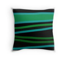 GREEN VALLEY abstract art gifts Throw Pillow