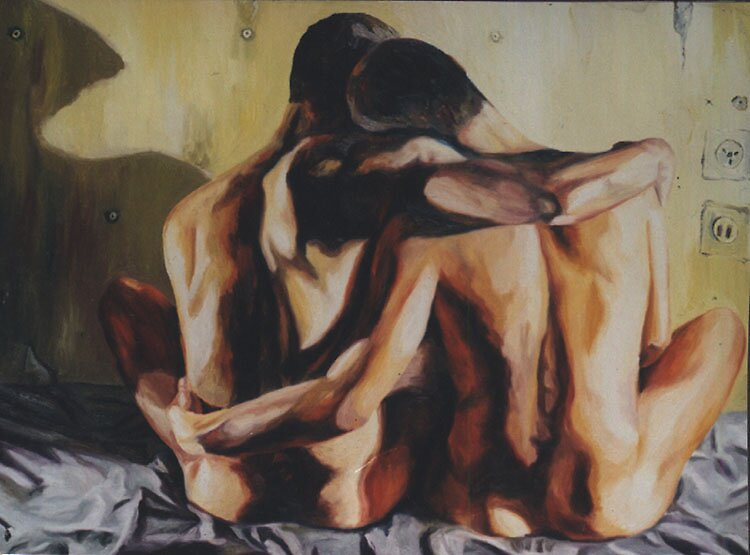 gay couple hugging  by raphael perez