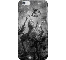 When The Stars Are Right - The Eagle Nebula in Serpens (black & white version) iPhone Case/Skin