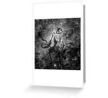When The Stars Are Right - The Eagle Nebula in Serpens (black & white version) Greeting Card