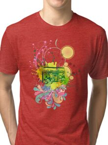 Retro Abstract Radio Tri-blend T-Shirt