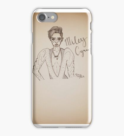 I Just Wanna Be Miley Cyrus  iPhone Case/Skin