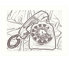 A Call From 1970 Art Print