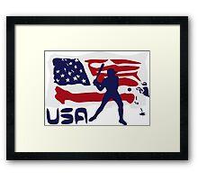 Baseball USA Framed Print