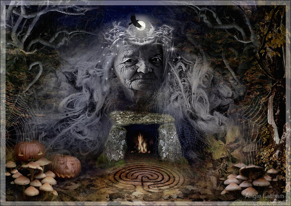 Samhain Goddess : The Crone by Angie Latham