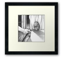 Sweat Accumulates on the Bottle Framed Print
