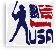 USA Baseball Canvas Print