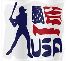 USA Baseball Poster