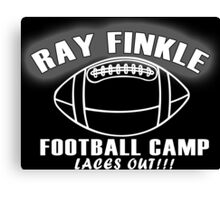RAY FINKLE FOOTBALL CAMP LACES OUT Funny Geek Nerd Canvas Print