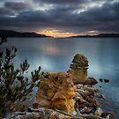 Dawn over North West Bay, Snug, Tasmania #2 by Chris Cobern