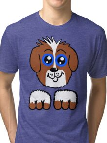Doey Eyed Puppy  Tri-blend T-Shirt