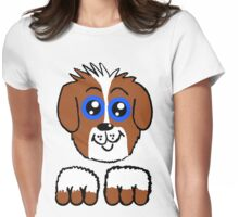 Doey Eyed Puppy  Womens Fitted T-Shirt