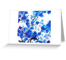 Blue Cherry Blossoms Greeting Card