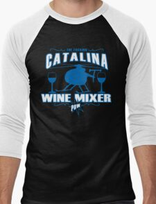 THE FUCKING CATALINA WINE MIXER POW FUNNY GEEK NERD Men's Baseball ¾ T-Shirt