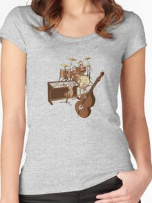 Funky Monkey Band Women's Fitted Scoop T-Shirt
