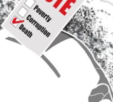 Vote Death Sticker