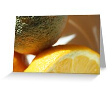 Mould on Lemon Greeting Card