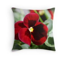 Perfect Pansy Throw Pillow