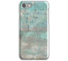 "Grey and blue abstract painting nature warm soft canvas blue art ""Hallof fame 'by Veronica Vilsan 39,37 x31,5"" iPhone Case/Skin"