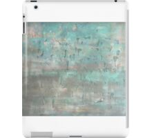 """Grey and blue abstract painting nature warm soft canvas blue art """"Hallof fame 'by Veronica Vilsan 39,37 x31,5"""" iPad Case/Skin"""