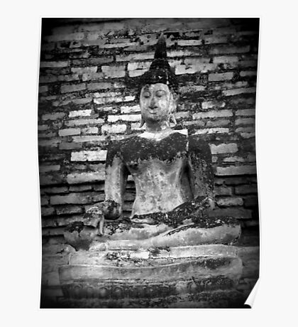 Peaceful Buddha Print Poster