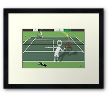 Corky's playing tennis Framed Print