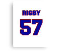 National baseball player Brad Rigby jersey 57 Canvas Print
